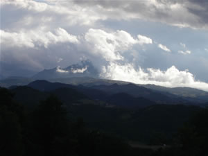 Monte Vantasso with cloud